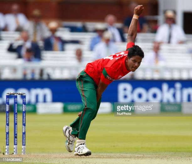 Mohammad Saifuddin of Bangladesh during ICC Cricket World Cup between Pakinstan and Bangladesh at the Lord's Ground on 05 July 2019 in London England