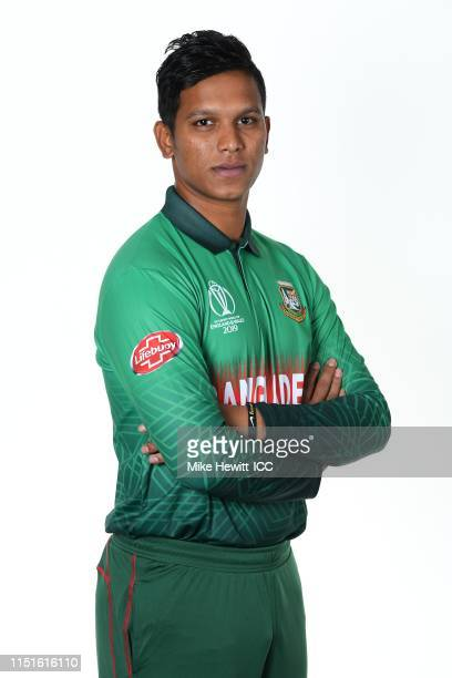Mohammad Saifuddin of Bangladesh poses for a portrait prior to the ICC Cricket World Cup 2019 at the Park Plaza Hotel on May 25 2019 in Cardiff Wales