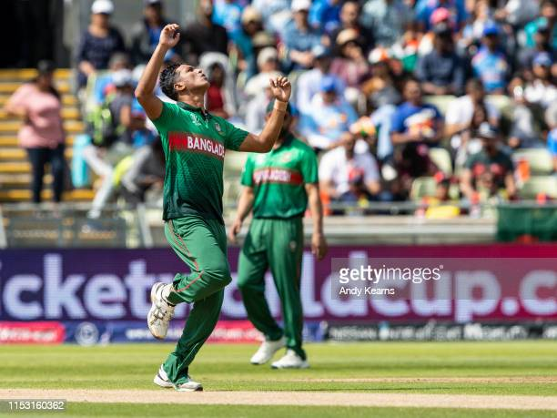 Mohammad Saifuddin of Bangladesh rues a near miss during the Group Stage match of the ICC Cricket World Cup 2019 between Bangladesh and India at...