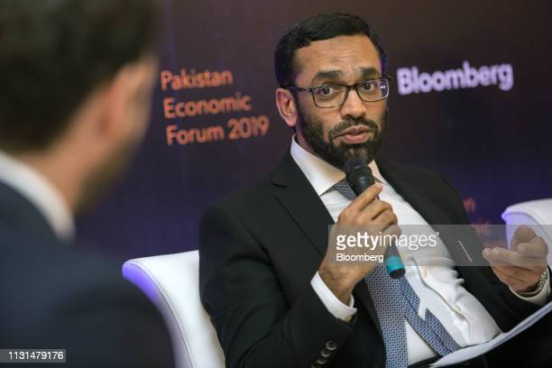 Mohammad Shoaib chief executive officer of Al Meezan Investment Management Ltd speaks during the Bloomberg Pakistan Economic Forum in Karachi...