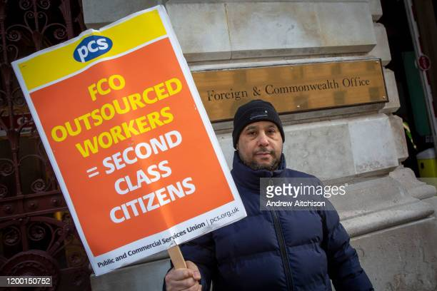 Mohammed a cleaner for Interserve the cleaning contractors for the Foreign and Commonwealth Office FCO who are striking for better working conditions...