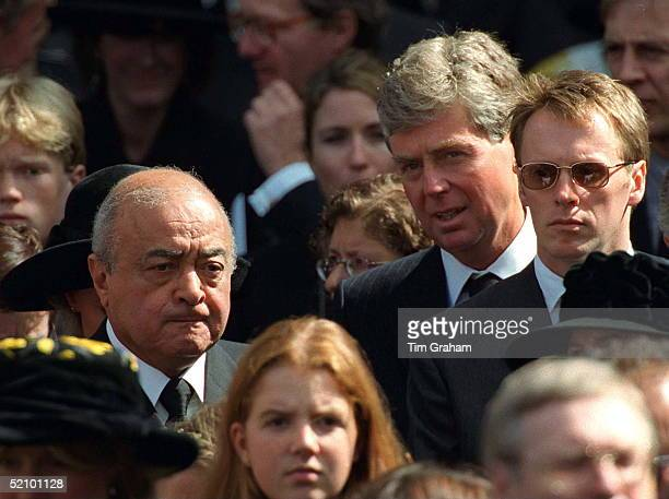 Mohammed Al Fayed And Michael Cole Attending The Funeral Of Diana Princess Of Wales