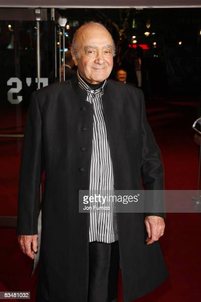 Mohammed Al Fayed attends the world premiere of 'Quantum of Solace' at Odeon Leicester Square on October 29, 2008 in London, England.