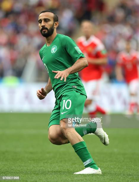 Mohammed Al Sahlawi of Saudi Arabia is seen during the 2018 FIFA World Cup Russia group A match between Russia and Saudi Arabia at Luzhniki Stadium...