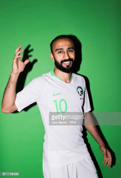 Mohammed Al Sahlawi of Saudi Arabia poses for a portrait during the official FIFA World Cup 2018 portrait session on June 10 2018 in Saint Petersburg...