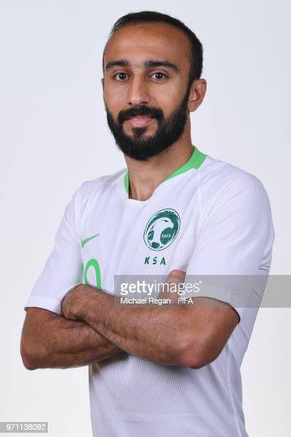 Mohammed Al Sahlawi of Saudia Arabia poses during the official FIFA World Cup 2018 portrait session at on June 10 2018 in Saint Petersburg Russia
