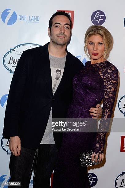 Mohammed Al Turki and Hofit Golan attend the Lova World Images Closing Party during the 66th Annual Cannes Film Festival at Baoli Beach on May 22...