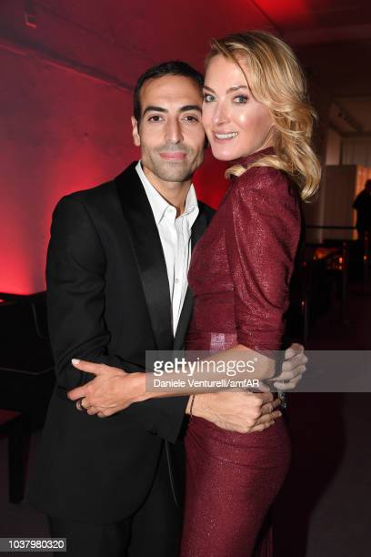 Mohammed Al Turki and Lilly zu sayn Wittgenstein attend amfAR Gala dinner at La Permanente on September 22 2018 in Milan Italy