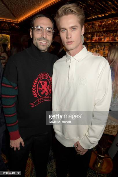Mohammed Al Turki and Neels Visser attend the TOMMYNOW after party at Annabels on February 16 2020 in London England