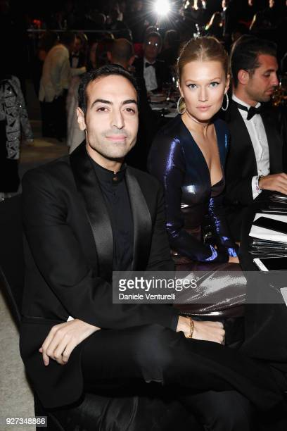 Mohammed Al Turki and Toni Garrn attend Elton John AIDS Foundation 26th Annual Academy Awards Viewing Party at The City of West Hollywood Park on...