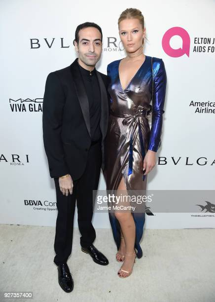Mohammed Al Turki and Toni Garrn attend the 26th annual Elton John AIDS Foundation Academy Awards Viewing Party sponsored by Bulgari celebrating EJAF...
