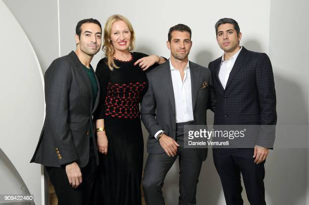Mohammed Al Turki Diana Widmaier Picasso Tommy Chiabra and Roy Sebag attend Mene 24 Karat Jewelry Presentation at Gagosian Gallery on January 23 2018...