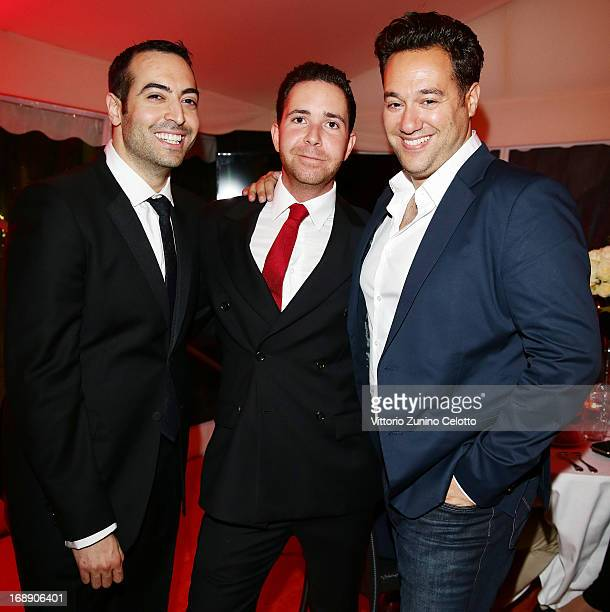 Mohammed Al Turki, Hamza Talhouni and Richard Raymond attend the 'Desert Dancer' Dinner during The 66th Annual Cannes Film Festival on May 16, 2013...