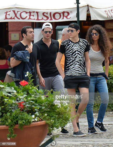 Mohammed Al Turki Harry Brant Peter Brant and Afef Jnifen are seen on July 4 2014 in Portofino Italy