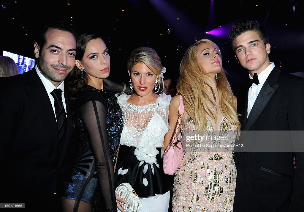 Mohammed Al Turki, Liliana Matthaeus, Hofit Golan, Paris Hilton and River Viiperi attend amfAR's 20th Annual Cinema Against AIDS during The 66th Annual Cannes Film Festival at Hotel du Cap-Eden-Roc on May 23, 2013 in Cap d'Antibes, France.