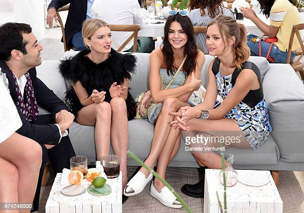 Mohammed Al Turki Lily Donaldson and Kendall Jenner attend the launch of the new Fendi By Karl Lagerfeld Book during the 68th annual Cannes Film...