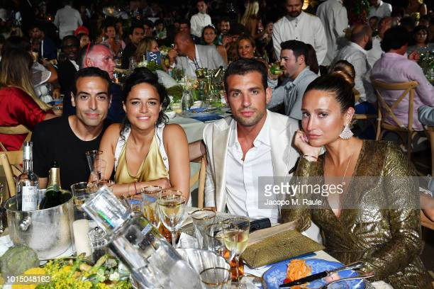 Mohammed Al Turki Michelle Rodriguez Tommaso Chiaba and Siran Manoukian attends the Unicef Summer Gala Presented by Luisaviaroma afterparty at Villa...