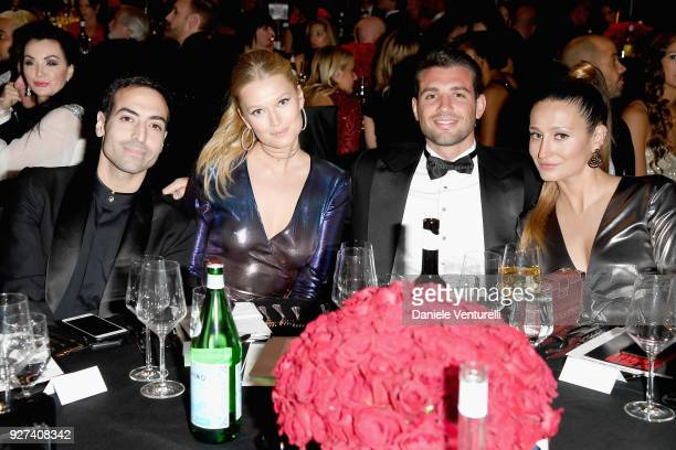 Mohammed Al Turki Toni Garrn Tommaso Chiabra and Siran Manoukian attend Elton John AIDS Foundation 26th Annual Academy Awards Viewing Party at The...