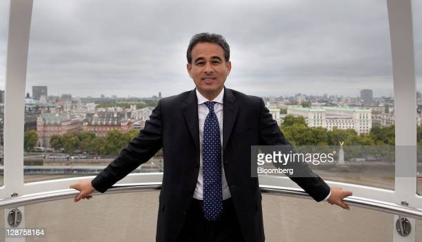 Mohammed Alabbar chairman of Emaar Properties PJSC poses for a photograph during a Bloomberg via Getty Images Television interview on the EDF Energy...
