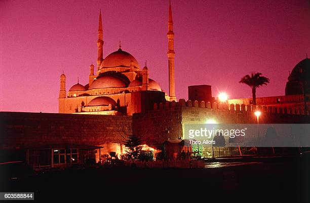 Mohammed Ali Mosque in Cairo, Egypt, at night