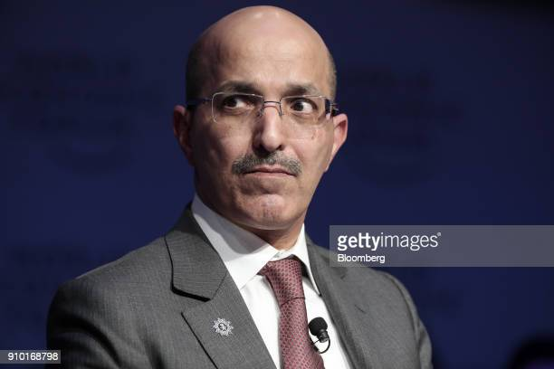 Mohammed AlJadaan Saudi Arabia's finance minister looks on during a panel session on day three of the World Economic Forum in Davos Switzerland on...