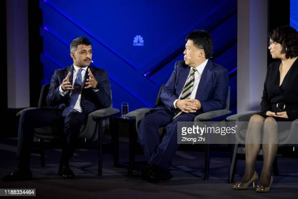 Mohammed Alshehabi, head of Innovation of AL Salam Bank-Bahrain speaks with Wendy Liu, Head of China Strategy of UBS Investment Bank, CG Lai, CEO of...