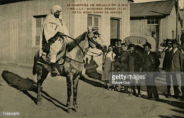 Mohammed Armani in Melilla Morocco 1912 Nicknamed 'The Cat' Armani supported Spanish occupation of Morocco during Berber raids on Spanish settlements...