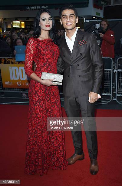 Mohammed Assaf and Lina Qishawi attend 'The Idol' Sonic Gala In Association With MOBO Film during the BFI London Film Festival at Vue Leicester...