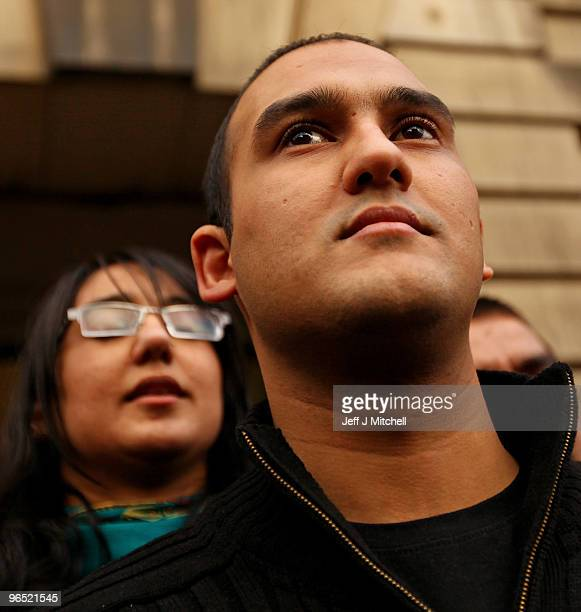 Mohammed Atif Siddique walks free from Court of Criminal appeal on February 9, 2010 in Edinburgh, Scotland. Siddique was set free after his 2007...