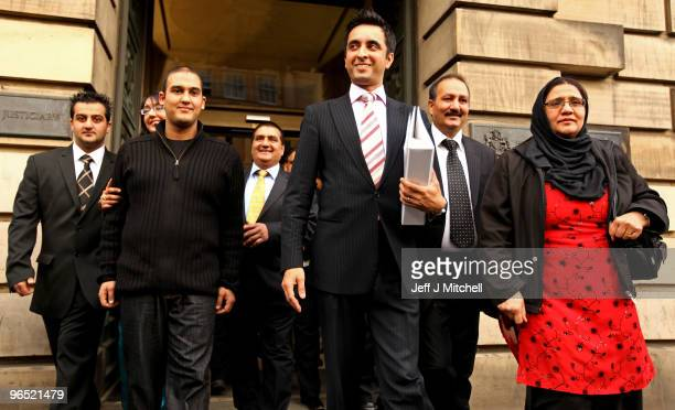 Mohammed Atif Siddique walks free from Court of Criminal appeal with his mother Parveen and father Atif and his lawyer Amaar Anwar on February 9,...