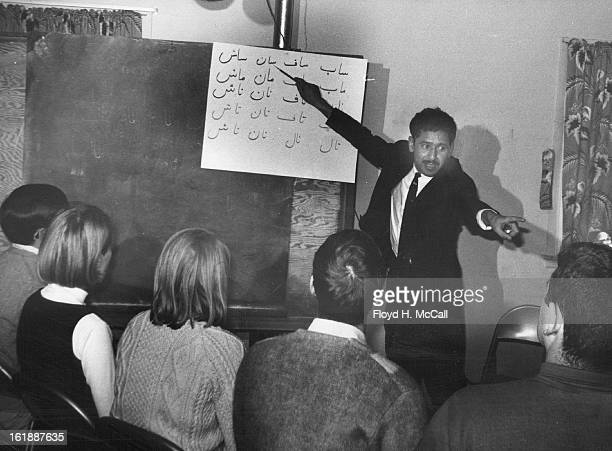MAR 6 1968 MAR 14 1968 MAR 17 1968 Mohammed Bashir teaches written Farsi Language a calligraphic type of writing Peace Corps trainees learned to read...