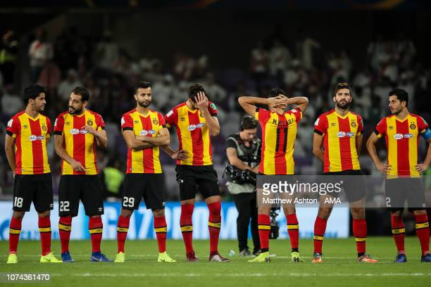 Mohammed Belaili of Esperance de Tunis turns around from watching the penalties during the FIFA Club World Cup UAE 2018 5th Place Match between ES...