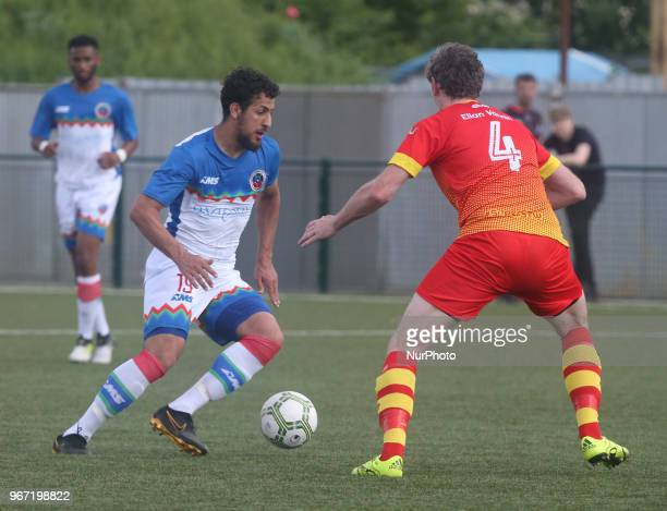 Mohammed Betteamer of Barrawa during Conifa Paddy Power World Football Cup 2018 Group A match between Barawa against Ellan Vannin at Coles Park...