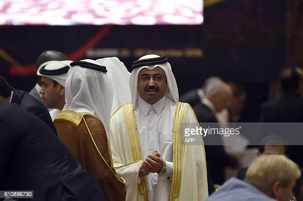 Mohammed Bin Saleh AlSada Minister of Energy and Industry of Qatar arrives for an informal meeting between members of the Organization of Petroleum...