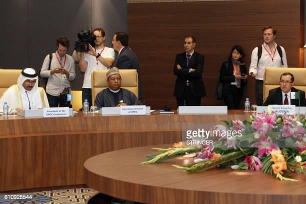 Mohammed Bin Saleh AlSada Minister of Energy and Industry of Qatar OPEC oil cartel Secretary General Nigeria's Mohammed Barkindo and Algerian Energy...