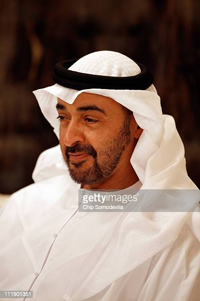 Mohammed bin Zayed bin Sultan Al Nahyan the Crown Prince of Abu Dhabi and Deputy Supreme Commander of the United Arab Emirates Armed Forces meets...