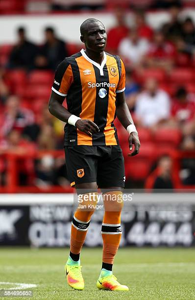 Mohammed Diame of Hull City during the preseason friendly match between Nottingham Forest and Hull City at City Ground on July 30 2016 in Nottingham...