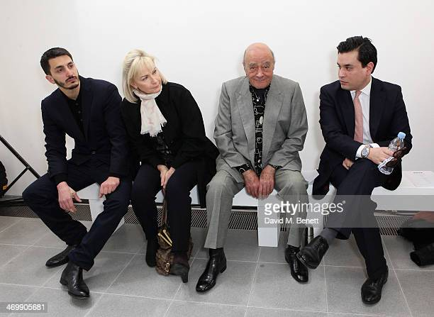 Mohammed Esreb Heini AlFayed Mohamed AlFayed and Ben Chan front row for ISSA Autumn/Winter 2014 Show at The Serpentine Sackler Gallery on February 17...