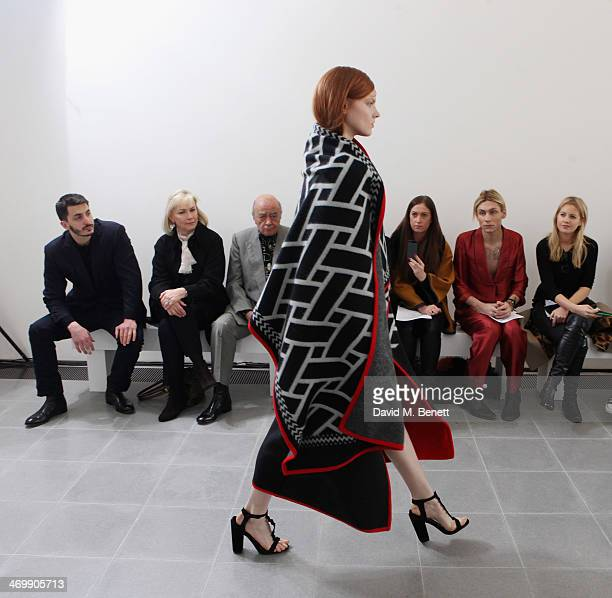 Mohammed Esreb Heini AlFayed Mohamed AlFayed Ben Chan Emma Newman Kyle De'volle and Marrissa Montgomery front row for ISSA Autumn/Winter 2014 Show at...
