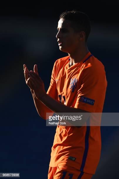 Mohammed Ihattaren of Netherlands looks on during the UEFA European Under17 Championship match between Netherlands and Ireland at Proact Stadium on...