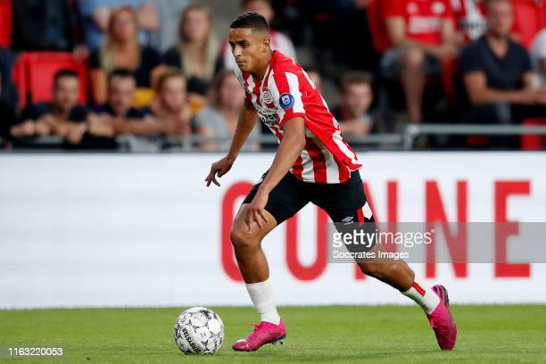 Mohammed Ihattaren of PSV during the UEFA Europa League match between PSV v Apollon Limassol at the Philips Stadium on August 22 2019 in Eindhoven...