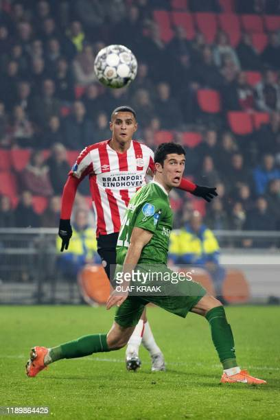 Mohammed Ihattaren of PSV scores the 21 against PEC Zwolle during the Dutch Eredivisie league at the Philips Stadium in Eindhoven on December 21 2019...