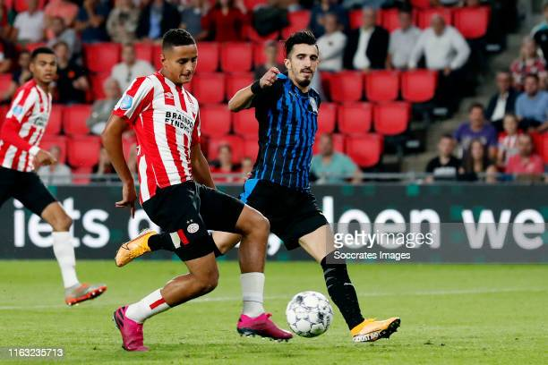 Mohammed Ihattaren of PSV scores the first goal to make it 10 during the UEFA Europa League match between PSV v Apollon Limassol at the Philips...