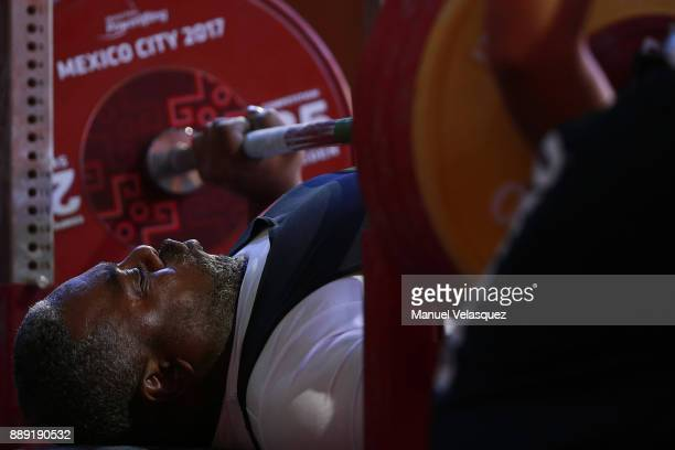 Mohammed Khalaf of United Arab Emirates competes during the Men's Up to 97Kg Group A Category as part of the World Para Powerlifting Championship...