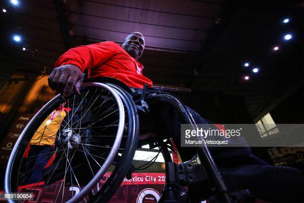 Mohammed Khalaf of United Arab Emirates looks on during the Men's Up to 97Kg Group A Category as part of the World Para Powerlifting Championship...