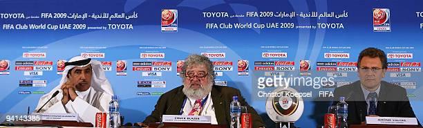 Mohammed Khalfan AlRumaithi president of United Arabic Emirates football association Chuck Blazer chairman of FIFA Club World Cup and FIFA general...