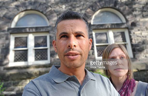 VT Mohammed Khatib a man from the Palestinian village of Bil'in and Emily Schaeffer an Israeli lawyer are in town to discuss a lawsuit against a...