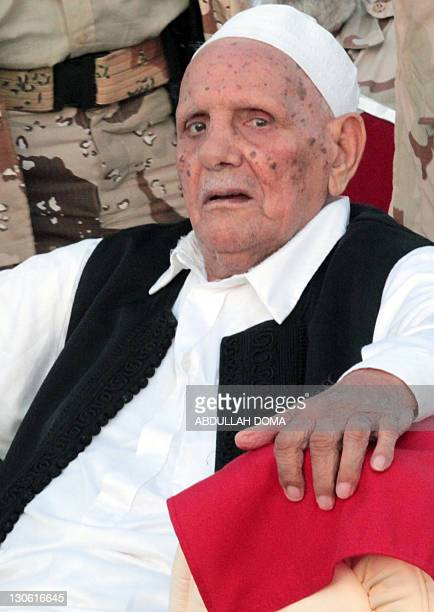 Mohammed Omar alMukhtar the 90yearold son of Libya's anticolonialist resistance hero Omar alMukhtar attends a ceremony on behalf of Turkish Prime...