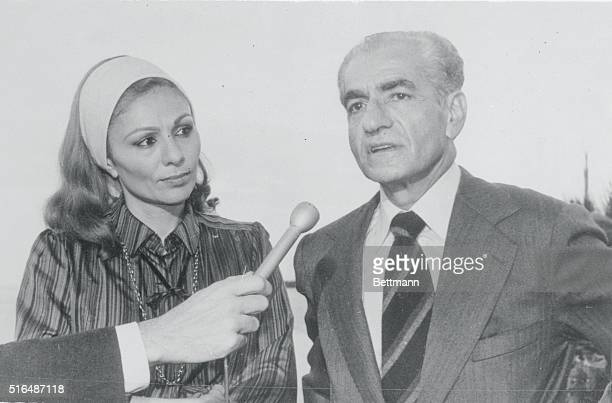 Mohammed Reza Pahlevi, former Shah of Iran and his wife Empress Farah, during a statement made few hours after their arrival to this Pacific Ocean...