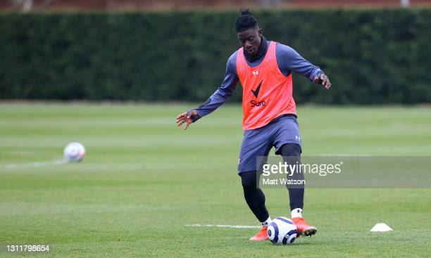 Mohammed Salisu during a Southampton FC training session at the Staplewood Campus on April 10, 2021 in Southampton, England.